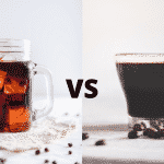 Hot brew coffee or cold brew coffee